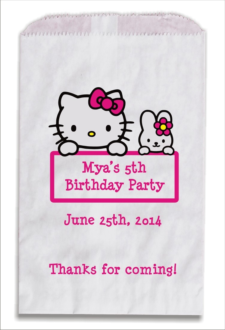 Hello Kitty Personalized Party Favor Bags 10 count