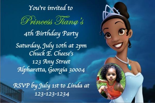 Princess and the Frog Invitation w/Optional Photo
