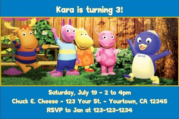 Backyardigans Invitations 2