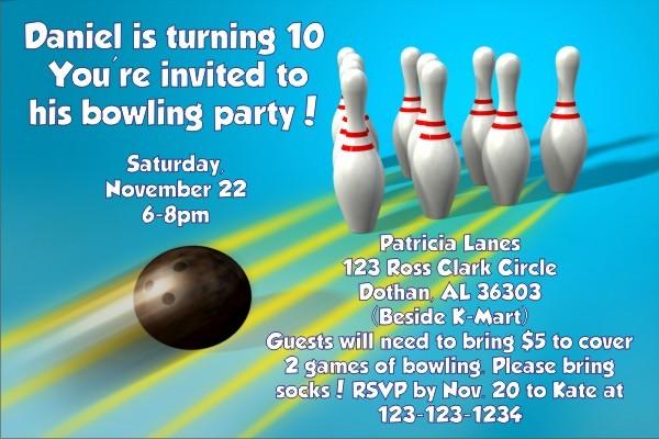 Bowling Invitations