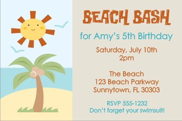 Beach Invitation 2