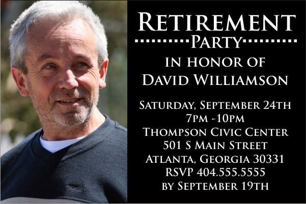 Retirement Party Photo Invitation