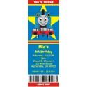 Thomas the Tank Engine Train Ticket Style Invitations (slim style)