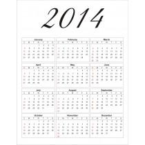 2014 free printable calendar