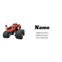 Blaze and the Monster Machines Return Address Label