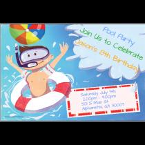 Big Splash Personalized Pool Party Invitation