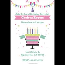 Celebration Cake Personalized Party Invitation template