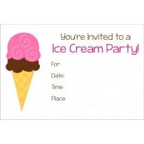 Ice cream party invitation free printable