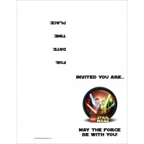 Lego Star Wars FREE Printable Birthday Party Invitation