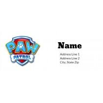 Paw Patrol Return Address Label