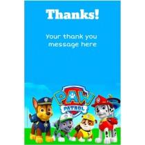 Paw Patrol Thank You Card