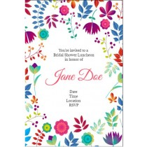 Spring Floral Personalized Invitation Template