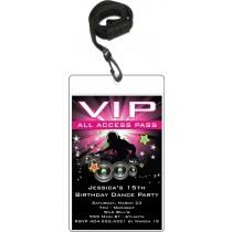 Dance Party VIP Pass Birthday Invitation
