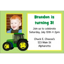 Tractor Invitation with Optional Photo