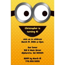 despicable me party invitation personalized custom
