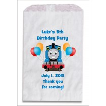 Thomas The Tank Engine Train Personalized Party Favor Bags 10 count