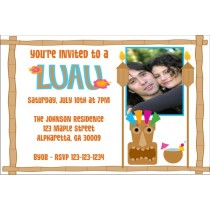 Luau Party Invitations 3 with Optional Photo