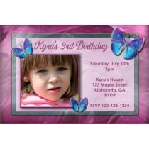 Photo Invitation 28- Purple Butterfly