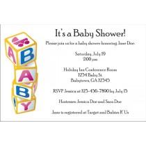 Baby Blocks Invitations 2 (black text)