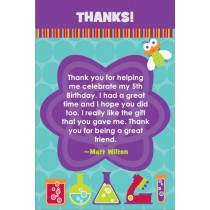Monster Science Thank You Card - Atom