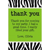 Zebra Animal Print Thank You Cards (All Colors)