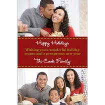 Holiday Bliss Christmas Holiday Photo Card - 2 Photos