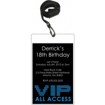Clubland VIP Pass Invitation with Lanyard (More Colors)
