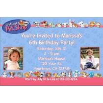 Littlest Pet Shop Photo Invitations