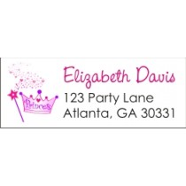 Princess Crown and Wand Return Address Labels