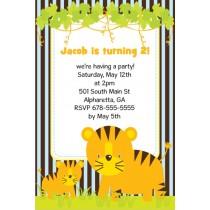 Jungle Fun Invitation  - Tiger and Cub