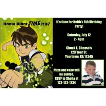 Ben 10 Photo Invitations