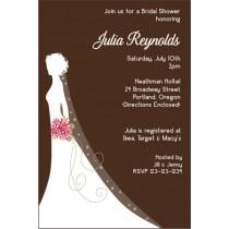 Bridal Shower Invitation 4 - Silhouette