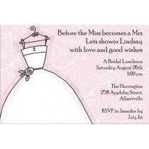 bridal shower invitation pink background