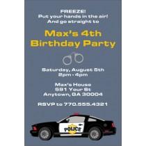 Police Car Birthday Party Invitation