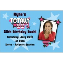 80s Retro Photo Birthday Invitation