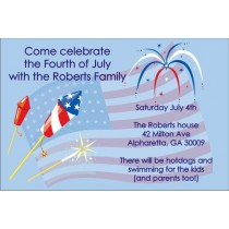 Fourth of July (July 4th) Independance Day Invitation - Fireworks