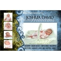 Newborn Baby Birth Announcement 3 (blue)