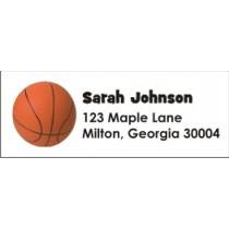 Basketball Return Address Labels