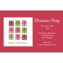 9 Gifts Christmas Holiday Party Invitation