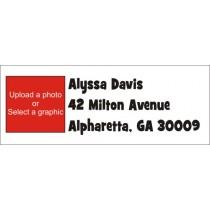 Photo Return Address Labels - FONT 1