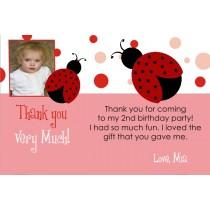 Ladybug Thank You Card with Optional Photo