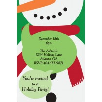 Festive Snowman Christmas Holiday Party Invitation