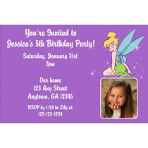 Tinkerbell Photo Invitation