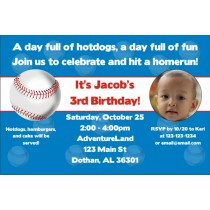 Baseball Photo Invitations