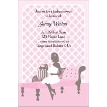 So Chic Baby Shower Invitation - Pink