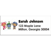 team umizoomi return address label stickers