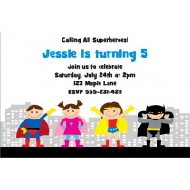 Superhero Birthday Invitation 5