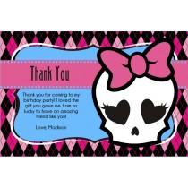 monster high thank you card