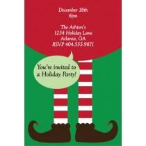 Elf Legs Christmas Holiday Party Invitation