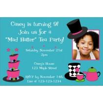 Mad Hatter Tea Party Photo Invitation